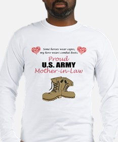 Proud US Army Mother-In-Law Long Sleeve T-Shirt
