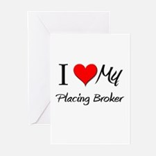 I Heart My Placing Broker Greeting Cards (Pk of 10
