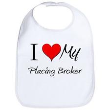 I Heart My Placing Broker Bib