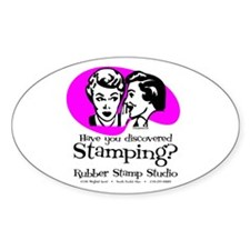 Discovered Stamping Oval Decal