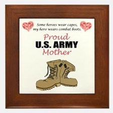 Proud US Army Mother Framed Tile
