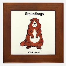 Groundhogs Kick Ass Framed Tile