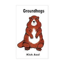 Groundhogs Kick Ass Rectangle Decal