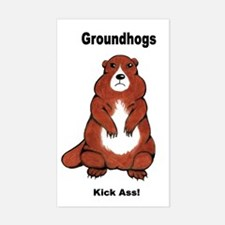 Groundhogs Kick Ass Rectangle Decal