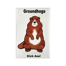 Groundhogs Kick Ass Rectangle Magnet