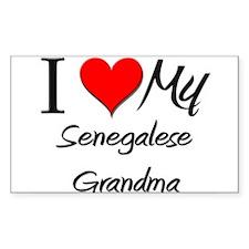 I Heart My Senegalese Grandma Sticker (Rectangular