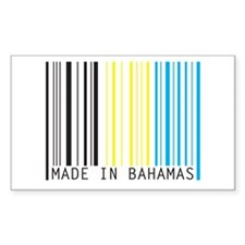 made in bahamas Rectangle Decal