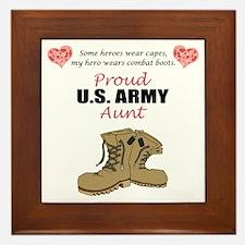 Proud US Army Aunt Framed Tile