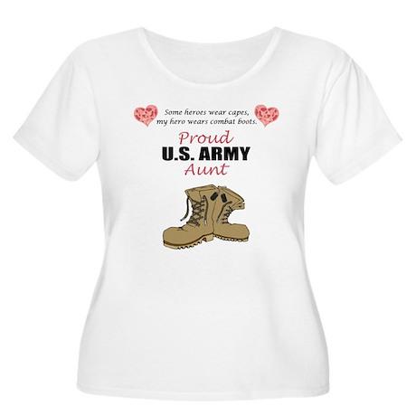 Proud US Army Aunt Women's Plus Size Scoop Neck T-