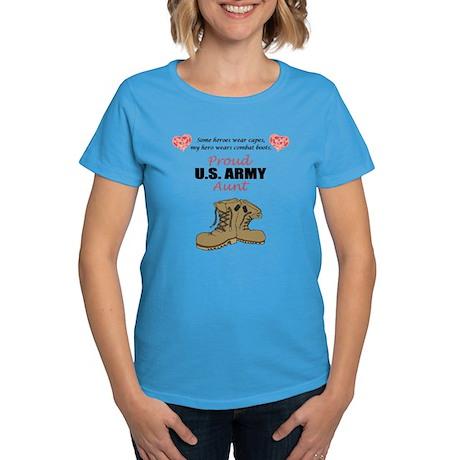 Proud US Army Aunt Women's Dark T-Shirt