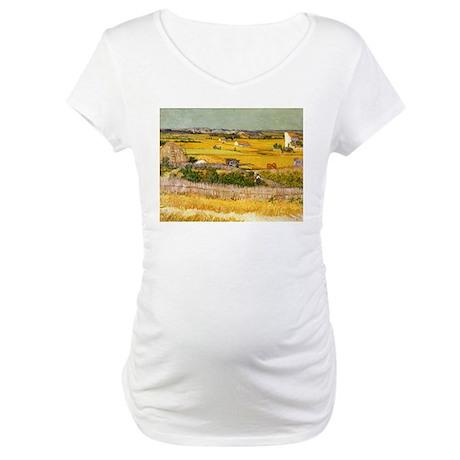 Van Gogh The Harvest Maternity T-Shirt