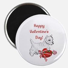 Happy Valentine's Day Westie Magnet