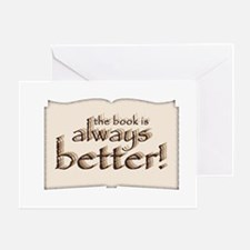 Book is Better Greeting Card