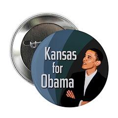 Kansas for Obama Campaign Button