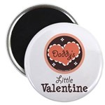 Pink Brown Daddy's Little Valentine Magnet