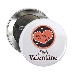 Pink Brown Daddy's Little Valentine 2.25