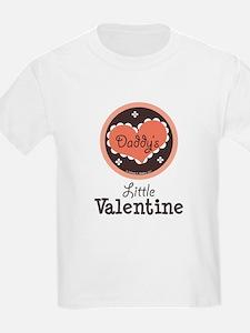 Pink Brown Daddy's Little Valentine T-Shirt
