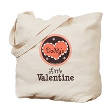 Pink Brown Daddy's Little Valentine Tote Bag