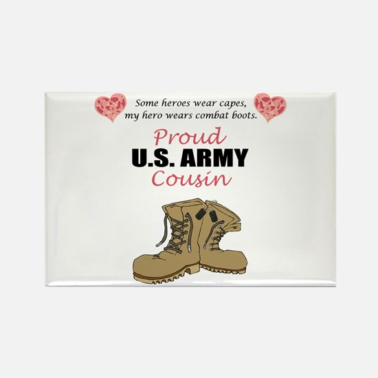 Proud US Army Cousin Rectangle Magnet