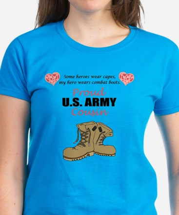 Proud US Army Cousin Women's Dark T-Shirt