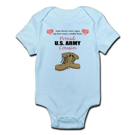 Proud US Army Cousin Infant Bodysuit