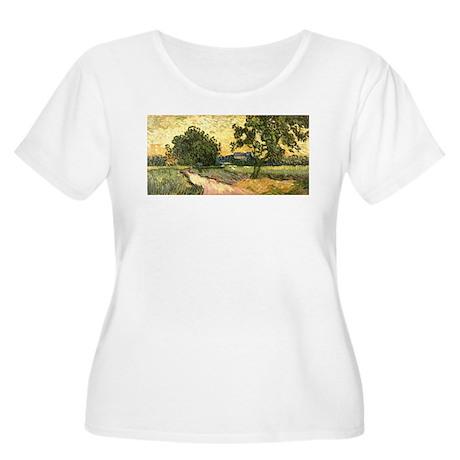 Van Gogh Castle of Auvers Women's Plus Size Scoop