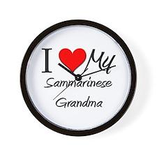 I Heart My Sammarinese Grandma Wall Clock