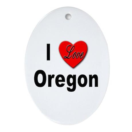 I Love Oregon Keepsake (Oval)