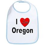 I Love Oregon Bib