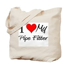 I Heart My Pipe Fitter Tote Bag