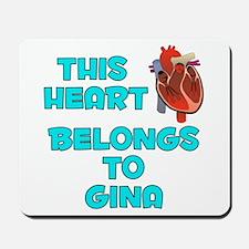 This Heart: Gina (B) Mousepad