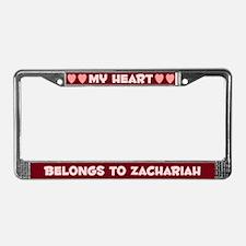 My Heart: Zachariah (#007) License Plate Frame
