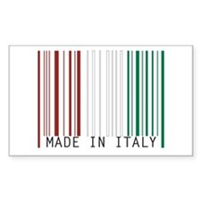 made in italy Rectangle Decal