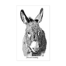 Wild Burro Rectangle Decal
