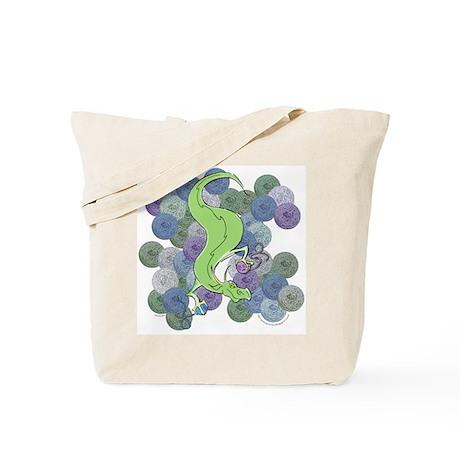 Dragon Stash (Blue) Knitting Bag