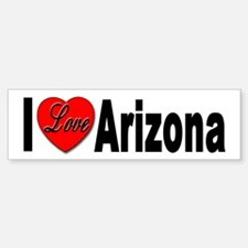 I Love Arizona Bumper Bumper Bumper Sticker