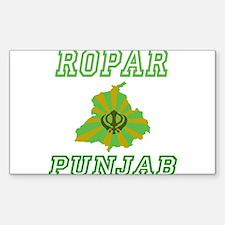 Ropar, Punjab Rectangle Decal