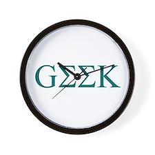 Green Greek Geek Wall Clock