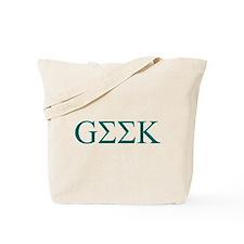Green Greek Geek Tote Bag