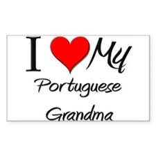 I Heart My Portuguese Grandma Sticker (Rectangular