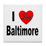 I Love Baltimore Maryland Tile Coaster