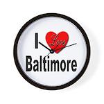 I Love Baltimore Maryland Wall Clock