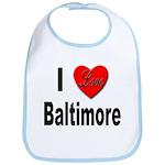 I Love Baltimore Maryland Bib