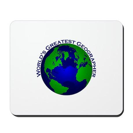 World's Greatest Geographer Mousepad