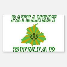 Pathankot, Punjab Rectangle Decal