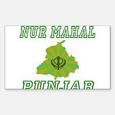 Nur Mahal, Punjab Rectangle Decal