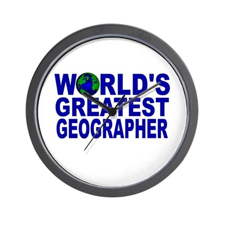 World's Greatest Geographer Wall Clock