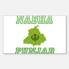 Nabha, Punjab Rectangle Decal