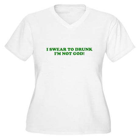 I Swear To Drunk Women's Plus Size V-Neck T-Shirt