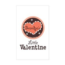 Pink Brown Grandpa's Little Valentine Decal
